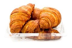 Croissant in plastic packaging Royalty Free Stock Photography