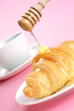 Croissant in plate royalty free stock images