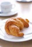Croissant on Plate. Stock Photography
