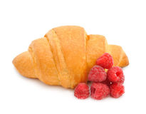 Croissant with raspberry Royalty Free Stock Image