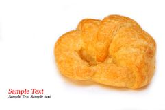 Croissant recently made isolated on white backgrou Stock Photo