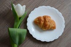 Croissant saboroso Fotos de Stock Royalty Free