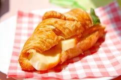 Croissant sandwich Stock Images