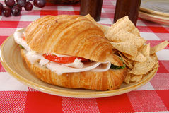Croissant sandwich Royalty Free Stock Photos