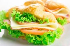 Croissant sandwich Stock Photos