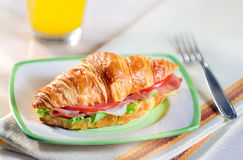 Croissant sandwich Royalty Free Stock Photography