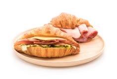 Croissant sandwich ham Stock Photo