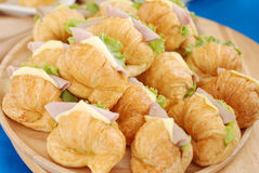 Croissant Sandwich Stock Photography