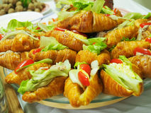 Croissant Sandwiches Royalty Free Stock Photography