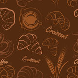 Croissant seamless Royalty Free Stock Photography