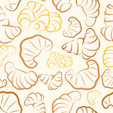 Croissant seamless Royalty Free Stock Image