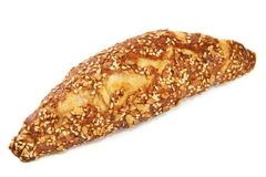 Croissant with seeds isolated Stock Image