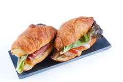 Croissant stuffed Royalty Free Stock Photography