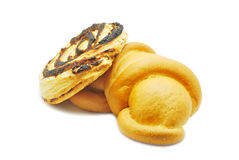 Croissant and sweetbread with poppy Royalty Free Stock Photo