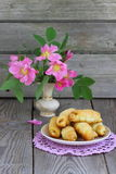 Croissant. Tasty and fresh croissants Stock Photos