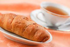 Croissant and tea Stock Photo