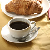 Croissant and tea Royalty Free Stock Images