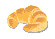 Croissant. A typical pasties of France. It is well know around the world.we can found at orainary bakery or cooffer shop served as a breakfast or light meal Stock Photo
