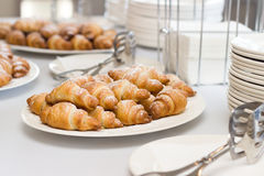 Croissant and utensils Stock Photo