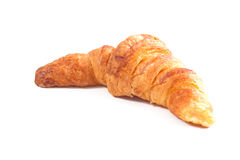 Croissant in a white background Royalty Free Stock Photo
