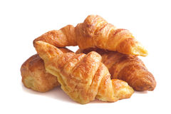Croissant in a white background Stock Photo