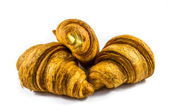Croissant. On a white background Royalty Free Stock Photos