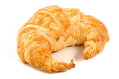 Croissant on white background. Bread Royalty Free Stock Photos