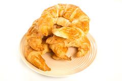 Croissant on white background. Bread stock image