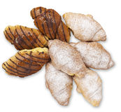 Croissant on white background Stock Image