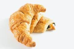 Croissant on white background. Fresh croissant on white background Royalty Free Stock Photos