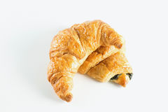 Croissant on white background. Fresh croissant on white background Royalty Free Stock Photo