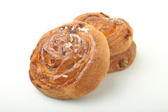 Croissant on white background Stock Photos