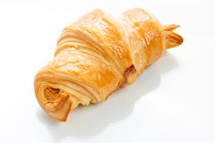 Croissant on white background. Top view. Royalty Free Stock Photos