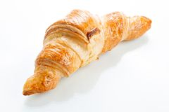 Croissant on white background. Top view. Royalty Free Stock Images