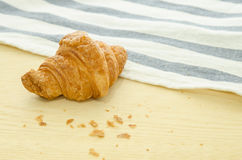 Croissant on wood board Stock Photo