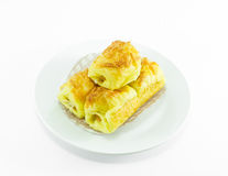 Croissant z kiełbasą Obrazy Royalty Free