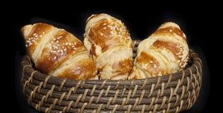 Croissanten royalty-vrije stock afbeelding