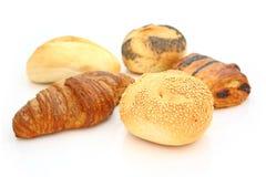 Croissanten en broodjes Stock Afbeelding