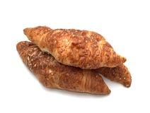 Croissanten met kaas stock afbeelding