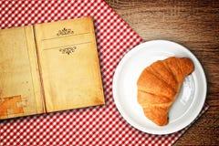 Croissantrecept Royalty-vrije Stock Foto