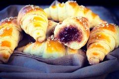 croissants γεμισμένος στοκ φωτογραφίες