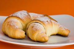 croissants δύο Στοκ φωτογραφίες με δικαίωμα ελεύθερης χρήσης