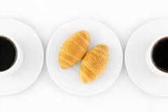 Croissants και καφές Στοκ Φωτογραφία