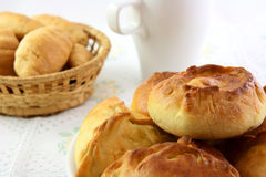 Croissants και πίτες Στοκ Φωτογραφία