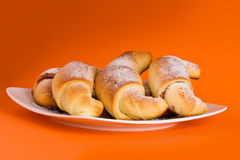 croissants ομάδα Στοκ φωτογραφία με δικαίωμα ελεύθερης χρήσης