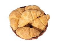 Croissants. Delicious croissants in a basket Stock Image