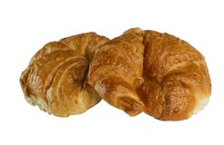 Croissants. Isolated on the white background Stock Image