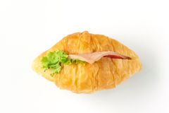 Croissants. Isolated over white background stock images