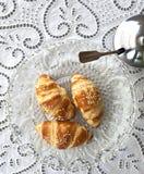 Croissants Fotografía de archivo