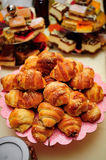 Croissants. With fillings served on a plate Royalty Free Stock Photo